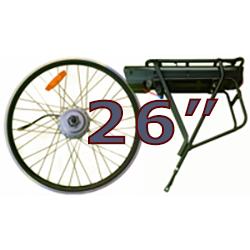"""26"""" hjul med 250W motor"""